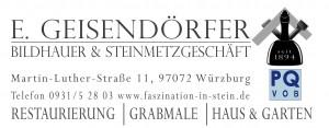 Neues Logo - Fa. E. Geisendooerfer